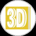 3d habbetű fóliázott dibond alapon szerelve