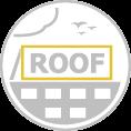 Óriás tetőreklám négyzetes szerkezettel