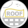 Óriás tetőreklám forma vágott szerkezettel