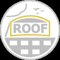 Óriás tetőreklám íves felső résszel