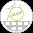 Óriás tetőreklám szerkezet kör alakú reklámfelülettel