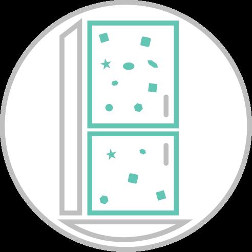 Hűtőmágnes, 3D műgyantás matrica