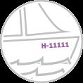 Hajó - vitorláshajó - motorcsónak - ladik - katamarán lajstromszám készítés