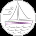 Hajó - vitorláshajó - motorcsónak díszítőcsík dekoráció