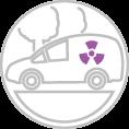 Veszélyes anyagot szállító autó dekoráció
