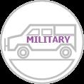 Katonai autó dekoráció