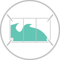 Óriás gigaponyva több szegmensből