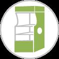 Display tervezés - Terméktároló tervezés - Polcos terméktároló