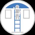 Létrás szerelés - Létrás alpinista munka