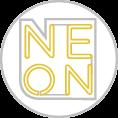 Neon reklám formavágott plexire szerelve