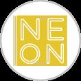Fóliázott dibond alapra szerelt neonreklám