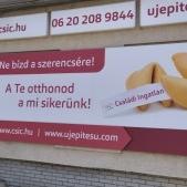 Dibond, törhetetlen szendvicslemez reklámtábla