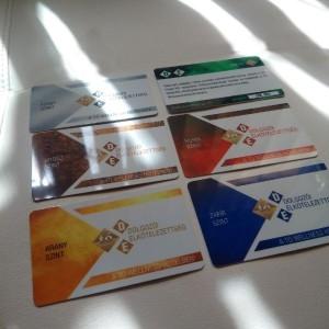 Névjegykártya, Plasztikkártya, Névkártya