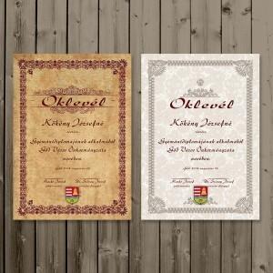 Szórólap, Oklevél, Fejléces papír