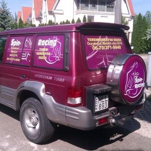 Perforált OWV autófólia (kilátást biztosító)